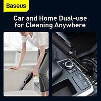 Автомобильный пылесос аккумуляторный BASEUS A2, 2 насадки, черный, фото 10