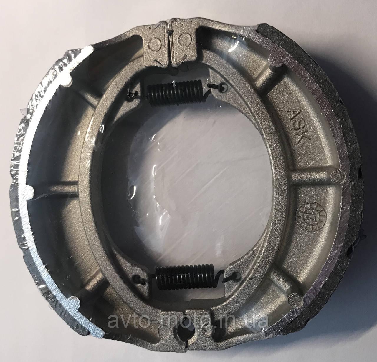 """Колодки гальмівні GY6-50/150 13"""" з насічками (Ф130 мм)"""