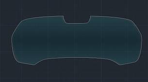 Захисне гібридне скло на приладову панель з камерою 9H BMW X5 / X5M 2019 (G05)