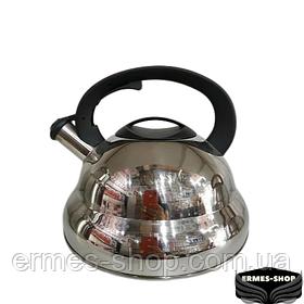 Чайник нержавійка з свистком 4.5 л KV-506