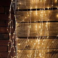 Новогодняя гирлянда конский хвост 200 LED 10 линий по 2 м 20 диодов лучи росы