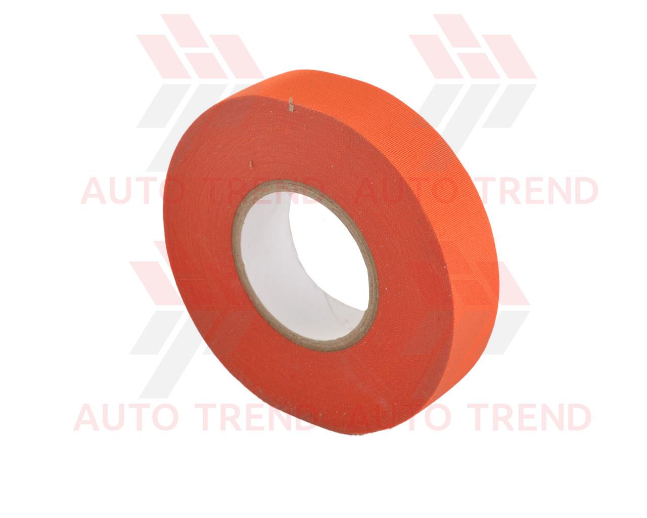 Изолента лавсановая, 19мм, оранжевая 25м (для электромобилей)