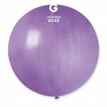 "Латексна кулька пастель лавандовий 19""/ 049 / 48см Lavender"