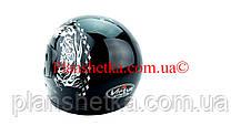 Шлем для мотоцикла черный с белым Virtue 02 взрослый размер L, фото 3