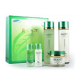 Набор для ухода за лицом с экстрактом зеленого чая Jigott Well-Being Greentea Skincare 3 Set