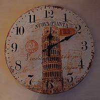 """Оригинальные настенные часы """"Пизанская башня"""" (34 см.)"""