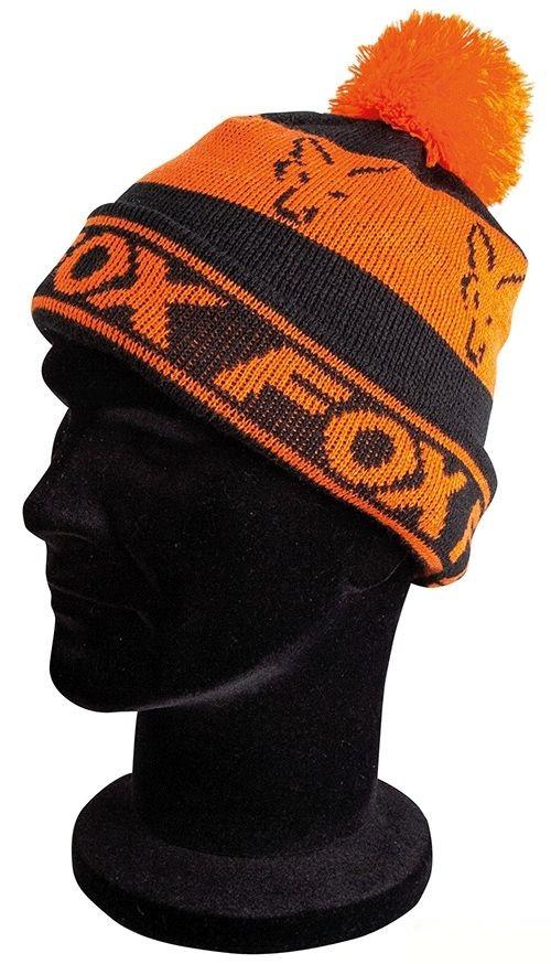 Шапка Fox Lined Bobble Hat Black Orange