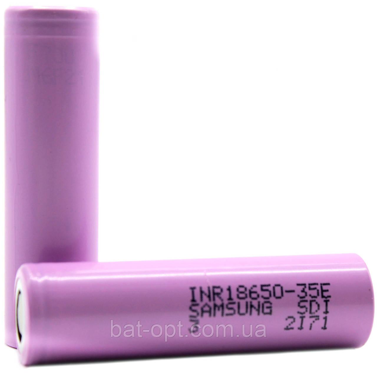 Аккумулятор Samsung Li-Ion 18650 3500mAh 35E (без защиты)