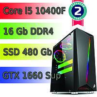 Игровой компьютер / ПК  ( intel i5-10400F (6 x 4.3GHz) / B460 / 16Gb DDR4 / 480Gb / GTX 1660 S 6Gb / 500W), фото 1