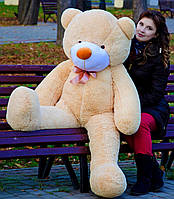 Медведь большой плюшевый 160 см, мягкий мишка подарок для девушки на день рождения, медовый