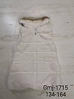 Безрукавки меховые для девочек оптом, Glo-Story , 134-164 рр, фото 1