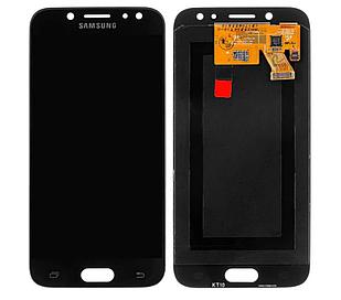Модуль для Samsung Galaxy J5, Samsung J530, черный, дисплей + сенсор