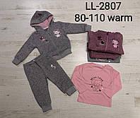 Утепленные костюмы для девочек оптом, Sincere, 80-110 рр.