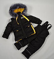 Зимний комбинезон для мальчика (куртка+полукомбинезон) на рост 98см