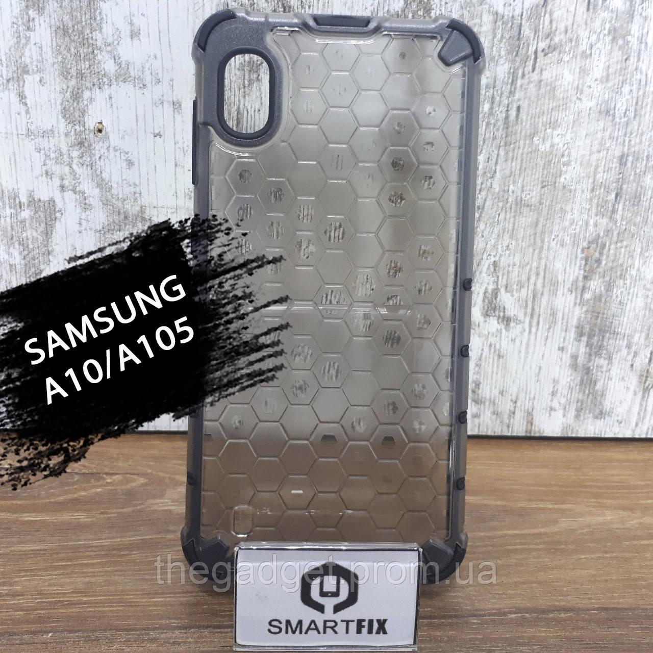 Пластиковый чехол для Samsung A10 / M10 / A105F / M105F HoneyComb