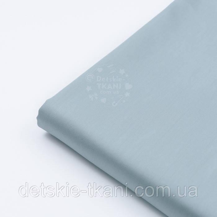 Клапоть сатину, колір сірої гавані, (№2795), розмір 39*120 см