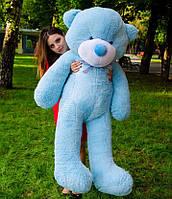 Медведь большой плюшевый 160 см, мягкий мишка подарок для девушки на день рождения, голубой
