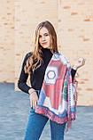 🔥НОВИНКА!!! Кашемировый бордовый платок узором с бахромой LEONORA, фото 2