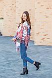 🔥НОВИНКА!!! Кашемировый бордовый платок узором с бахромой LEONORA, фото 3