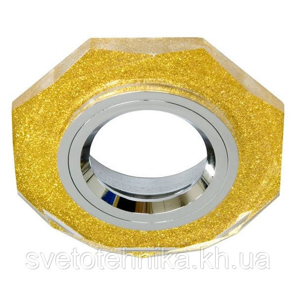 Точечный светильник Feron 8020-2 мерцающее золото
