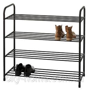 Полка для обуви 4-х уровневая (чёрная), фото 2