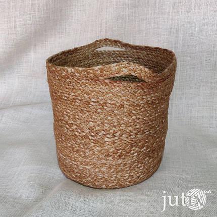 Сумка-корзина джутовая Ø 26 см, фото 2