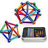 """Неокуб магнитные шарики """"Neo Mix Color"""" (36 цветных палочек, 27 цветных шариков) магнитный конструктор (NV)"""