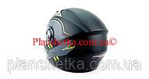 Шлем для мотоциклов Hel-Met F2-830 черный Мат Green Размер M/L, фото 3