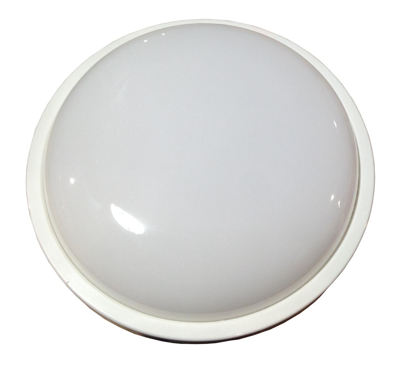 Влагозащищенный LED светильник для ЖКХ круг 20W 6000K IP54 LU-WR-20C (218*70мм) ТМ LUMANO