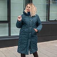 Пальто зимние женские больших размеров 50-60 волна