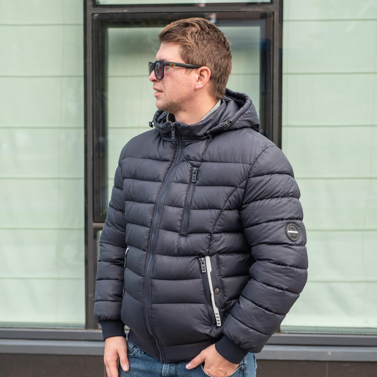 Недорогие зимние куртки мужские  от производителя  48-56  темно-синий