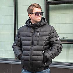 Зимові чоловічі пуховики модні 52,56 чорний