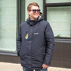 Чоловічі зимові куртки-парки на хутрі 50,56,58 темно синій