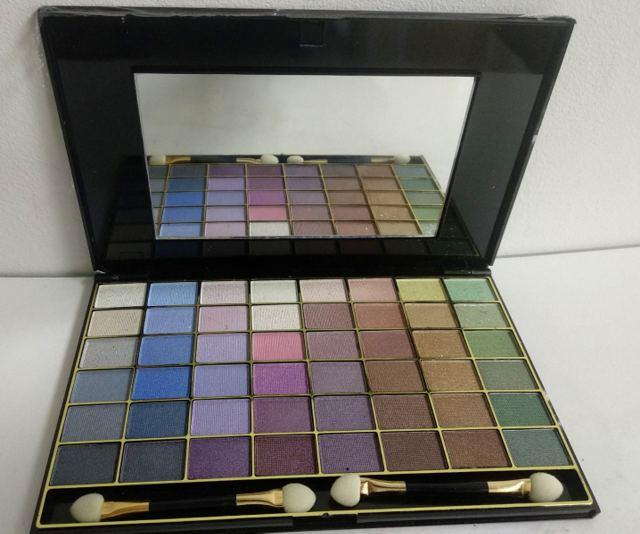Палетка теней для век Ruby Rose Beauty Eyeshadow Kit 48 цветов перламутровые с блестками HB-348 Тон № 01