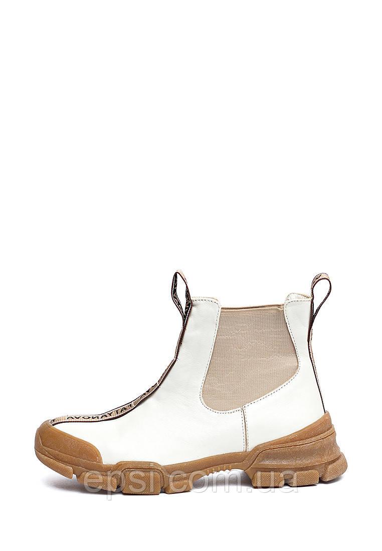 Ботинки женские кожаные Fatyanova Новафа 40 бежевые