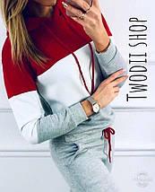 Модный женский трехцветный спортивный костюм  42-44 р, фото 2