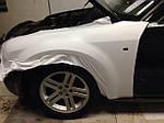 НАШИ РАБОТЫ: Chrysler 300C полная оклейка белой матовой пленкой