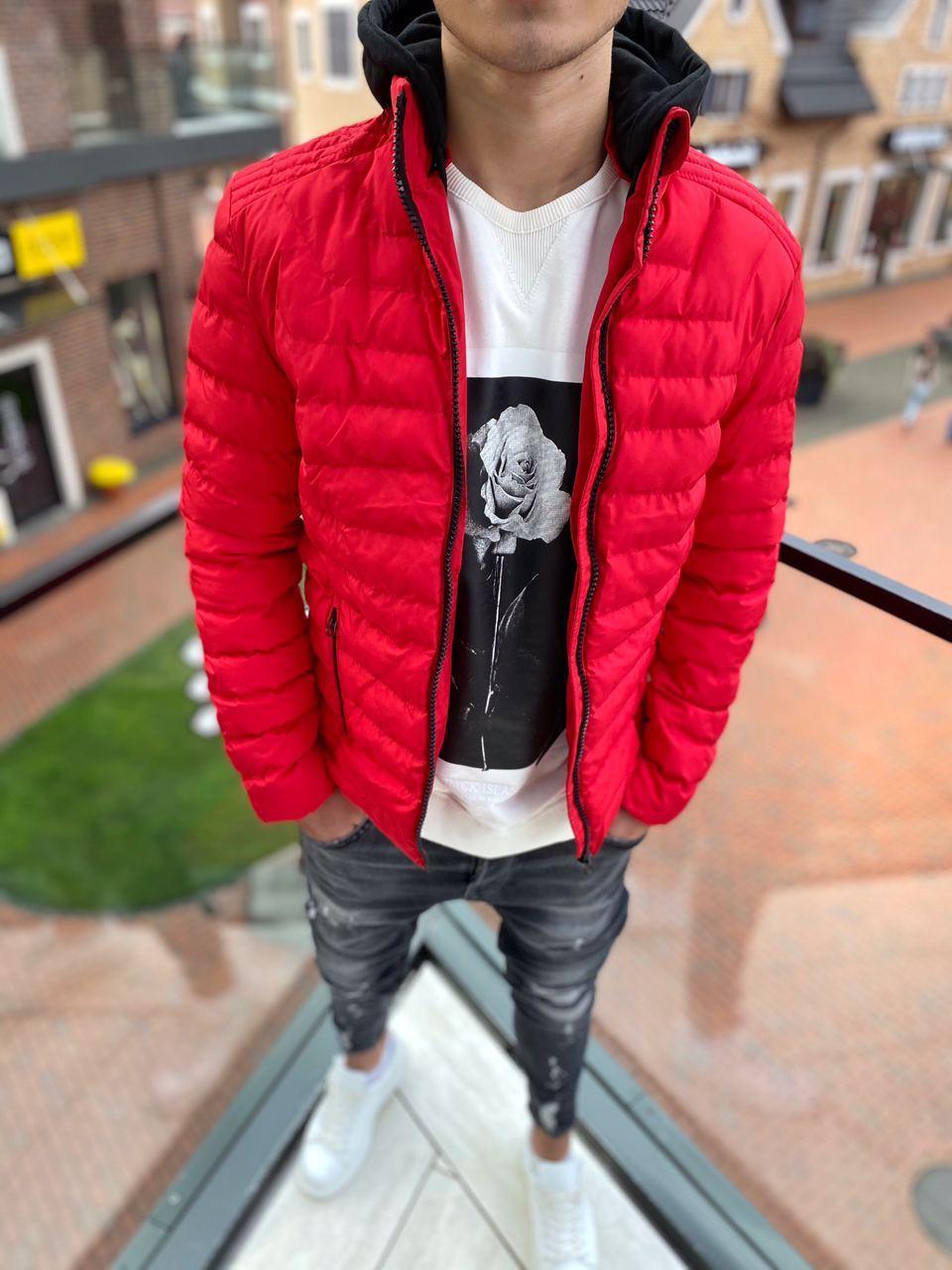Мужская красная куртка PLS 8