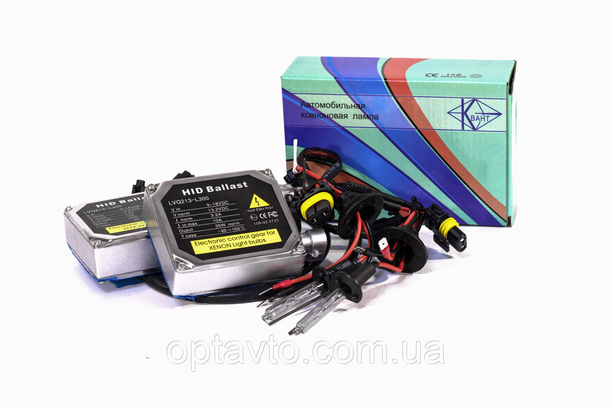 Комплект ксенона H1 5000К 12v с блоками Standart AC КВАНТ