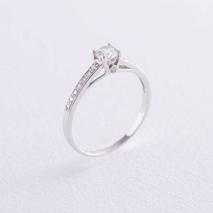 Золотое помолвочное кольцо с фианитами. к05983