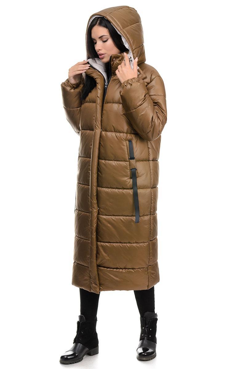 Пальто «Валенсия», 44-50, арт.262 табак
