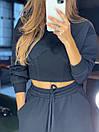 Женский брючный костюм из трехнитки с укороченной кофтой (42-46) 83ks1453, фото 2