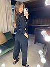 Женский брючный костюм из трехнитки с укороченной кофтой (42-46) 83ks1453, фото 3