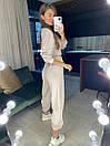 Женский брючный костюм из трехнитки с укороченной кофтой (42-46) 83ks1453, фото 5