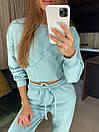 Женский брючный костюм из трехнитки с укороченной кофтой (42-46) 83ks1453, фото 6