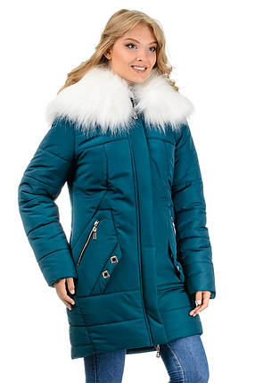 Зимняя куртка-парка «Снежана», р-ры 46-52, №219 зеленый, фото 2