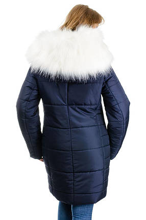 Зимняя куртка-парка «Снежана», р-ры 46-52, №219 т.синий, фото 2