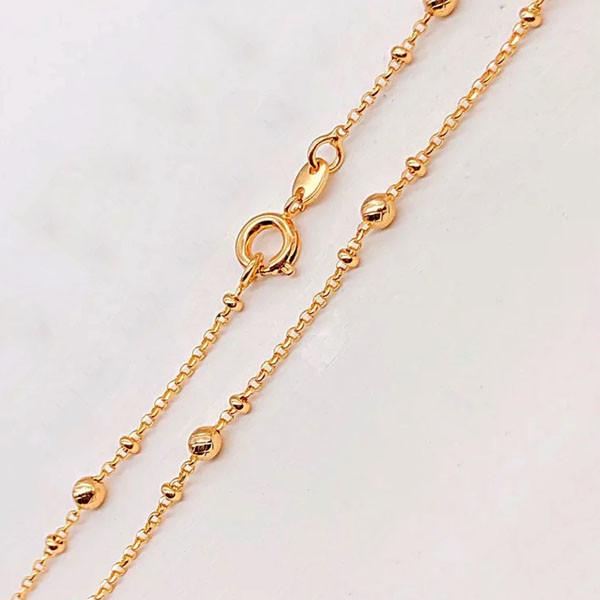 Цепочка Xuping Jewelry 45 см х 1/2/3/ мм Ролло с шариками медицинское золото позолота 18К А/В 3-0138