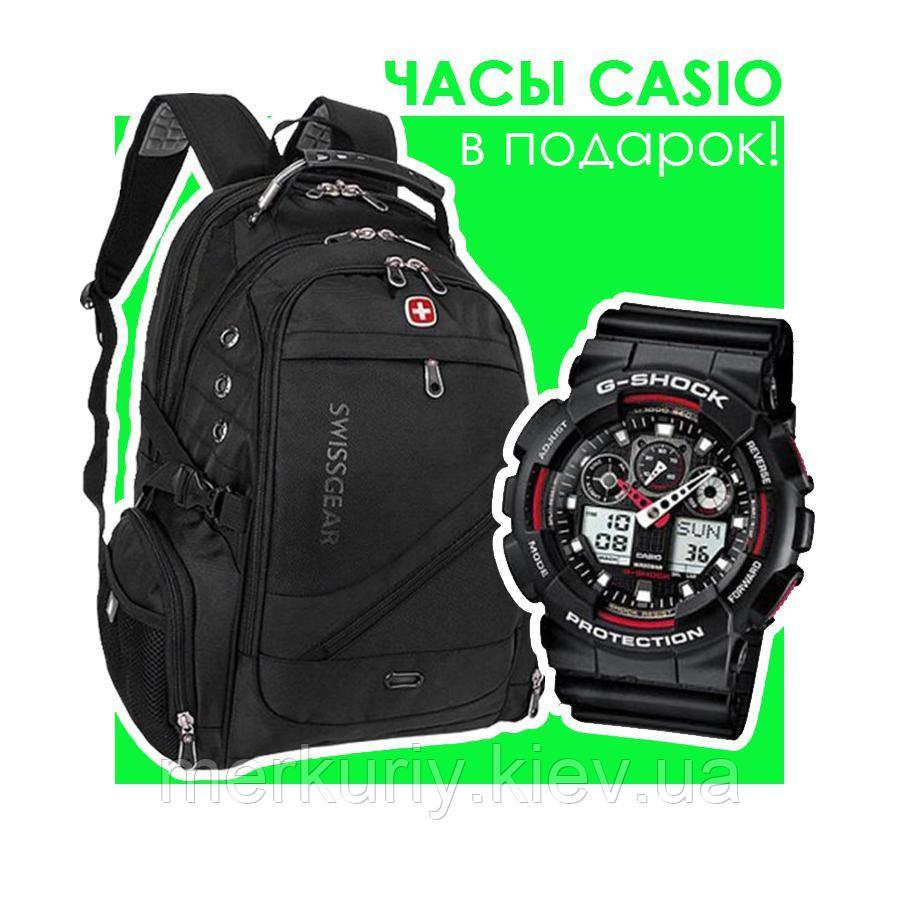 Рюкзак SwissGear WENGER 8810 black Свисгир швейцарский городской