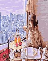 """Набір для розпису ПРЕМІУМ """"Сніданок з видом мрії"""" (PGX33804)"""